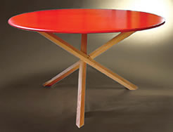Red Tripod Table